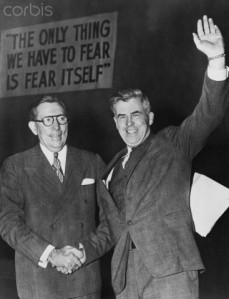 Henry Wallace and Claude Pepper Shaking Hands