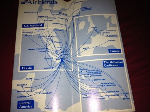 By the time 1983 rolled around Air Florida had more international destinations than American and United did at the time COMBINED.