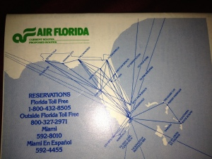 Air Florida routes in 1979 right after deregulation