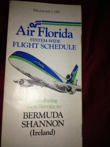 In 1982 Air Florida began service to Shannon, Ireland and Bermuda.