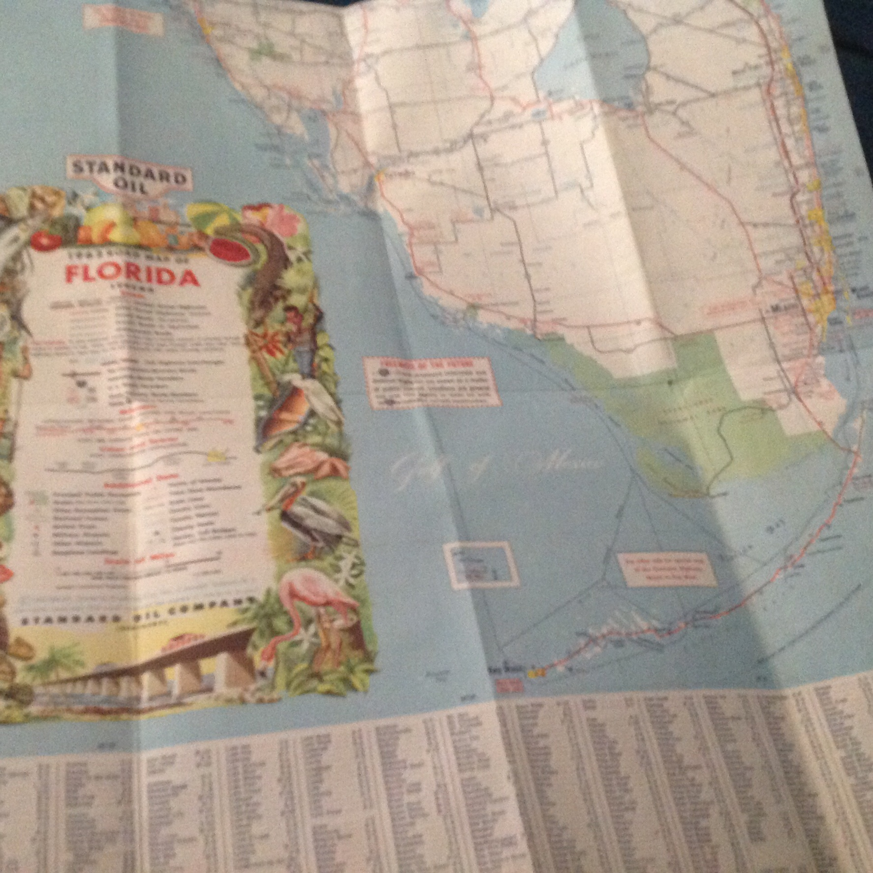 Florida Road Map 2015.Flashback Friday Road Map Of Florida In 1962 The Florida Squeeze