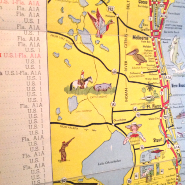 Flashback Friday Tourist Map Of Florida From 1950 The Florida
