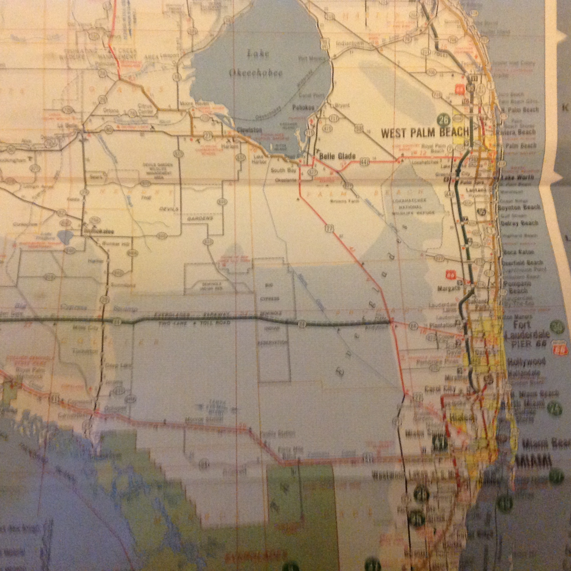 Florida Road Map 2015.Flashback Friday Florida And Metropolitan Miami Road Map From