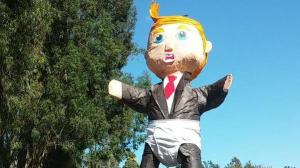 Trump piñata from USAvMexico fans