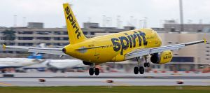 Spirit Airlines at Fort Lauderdale (2015) By JT Occhialini [CC BY-SA 2.0 (http://creativecommons.org/licenses/by-sa/2.0)], via Wikimedia Commons
