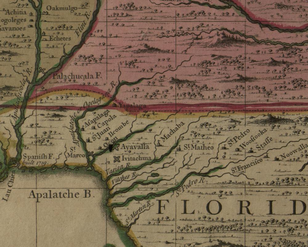 Apalachee Massacre The English Invasion Of Florida The Florida - Georgia map in english